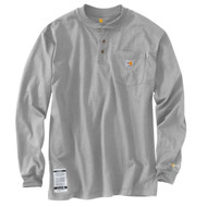 Flame-Resistant Force Cotton Long-Sleeve Henley 100237-051-LGY