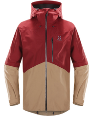 Haglofs Nengal Jacket Men - Dark Ruby/Oak