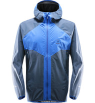 Haglofs L.I.M Proof Multi Jacket Men - cobalt blue / tarn blue. A lightweight and breathable waterproof jacket that packs down small.
