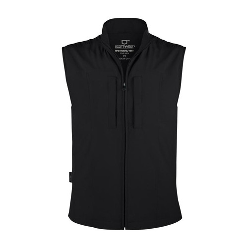 RFID Travel Vest for Men in Black