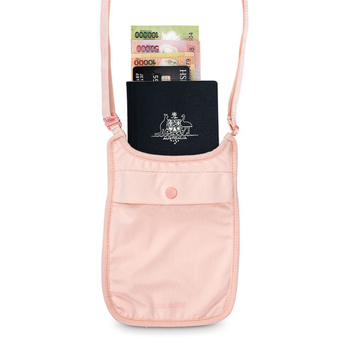 Coversafe S75 Secret Neck Pouch in pink