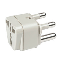 South Africa/India Adapter Plug - Grounded accepts North America 2-prong and 3-prong plugs.
