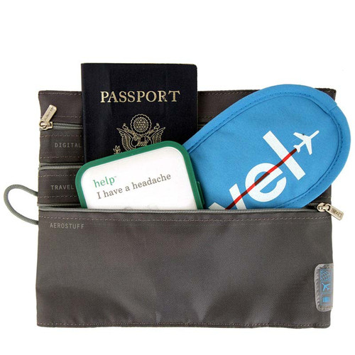 Seat Pak Organizer is a handy stash pouch for airline seat backs
