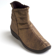 L19 Ruched boot by Arcopedico of Portugal in bronze