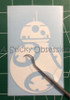 Star Wars The Force Awakens BB8 BB-8 white decal Episode 7
