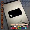 Kansas Heart black decal on iPad
