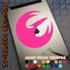 Star Wars Rebels Pheonix Squadron pink Decal on iPad