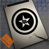 Captain America Shield Decal on iPad