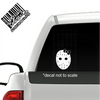 Friday the 13th Girl Girly Jason Mask with bow Decal on truck