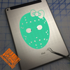 Friday the 13th Girl Girly Jason Mask with bow Decal on iPad
