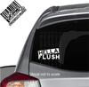 Hella Flush decal on Subaru Impreza