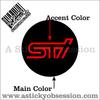 Subaru STi wheel center cap