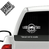 Look Twice Save a Life Motorcycle Cafe Racer decal on truck