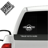 Look Twice Save a Life Motorcycle Cruiser decal on truck