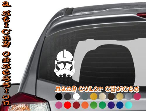 Star Wars Phase 2 Clone Wars Clone Trooper white decal on car