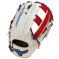 Mizuno Slowpitch GMVP1250PSES3 Softball Glove 12.5 inch (Silver-Red-Royal, Right Hand Throw)