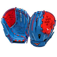 Mizuno GMVP1250PSEF3 Fastpitch Softball Glove 12.5 inch (Royal-Red, Right Hand Throw)