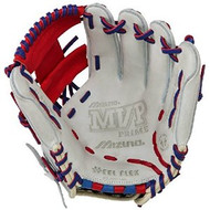 Mizuno 11.5 inch MVP Prime SE3 Baseball Glove GMVP1154PSE3 (Silver-Red-Royal, Right Hand Throw)