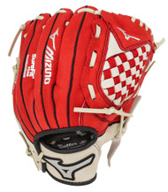 Mizuno Prospect Series GPP1000Y1RD 10 inch Red Youth Baseball Glove (Left Handed Throw)