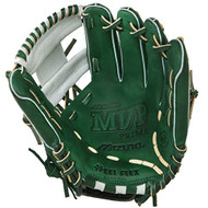 Mizuno 11.5 inch MVP Prime SE3 Baseball Glove GMVP1154PSE3 (Forest-Silver, Right Hand Throw)