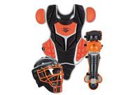 Louisville Slugger Series 5 Intermediate Fastpitch Softball Catcher's Set Black Orange