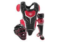 Louisville Slugger Series 5 Intermediate Fastpitch Softball Catcher's Set Black Scarlet