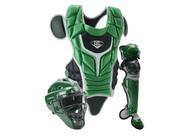 Louisville Slugger Series 5 Intermediate Fastpitch Softball Catcher's Set Dark Green Black