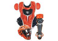 Louisville Slugger PGFPIS6 Burnt Orange Series 7 Fastpitch Intermediate Catchers Set