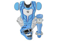 Louisville Slugger Series 5 3-Piece Catchers Set Intermediate Columbia Blue Gray