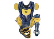 Louisville Slugger Series 5 3-Piece Intermediate Baseball Catcher's Set Navy Vegas Gold
