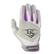 Louisville Slugger Womens Xeno Batting Gloves Small Hot Purple