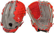 Mizuno GMVP1400PSES4 MVP Prime SE Softball Glove Smoke Red