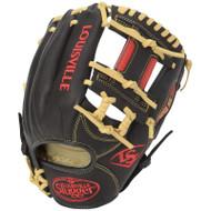 Louisville Slugger Omaha S5 Baseball Glove Black Scarlet 11.25 Right Hand Throw