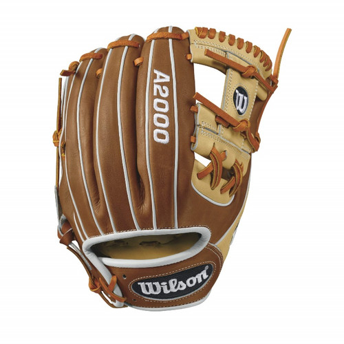Wilson A2000 1786 Infield Baseball Glove BlondeTanWhite 11.5inch Right Hand Throw
