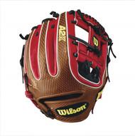 Wilson 2017 A2K Brandon Phillips Game Model Baseball Glove RedSaddle Tan