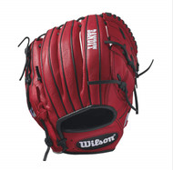 Wilson Bandit B212 Baseball Glove 12 inch Red Left Hand Throw