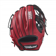 Wilson Bandit 1786 Pedroia Fit Baseball Glove 11.5 inch RedBlack Right Hand Throw