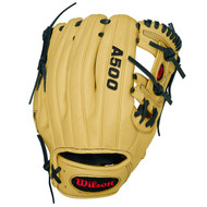 Wilson A500 Baseball Glove BlackBlondeRed Right