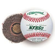 Diamond (10 Dozen) D1-NFHS Case Offical Baseballs Cushioned Cork Center