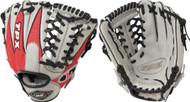 Louisville Slugger 11.5-Inch TPX HD9 Hybrid Defense Baseball Glove  Scarlet Gray Left Hand Throw