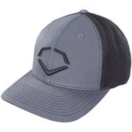 EvoShield Steed Stripe Mesh Flexfit Hat Black Grey Small Medium