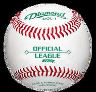Diamond DOL-1 Official League NFHS Baseball One Dozen