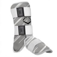 EvoShield MLB Batters Speed Stripe Leg Guard Grey Adult