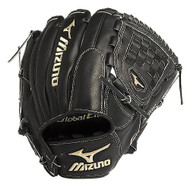 Mizuno GGE10VBK Global Elite VOP Baseball Fielder's Mitt (Black 12 nch) (Left Handed Throw)