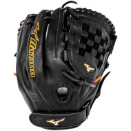 Mizuno MVP Prime SE GMVP1200PSEF1 Fastpitch 12 Inch Infielder Glove (Black/Orange, Right Handed Throw)