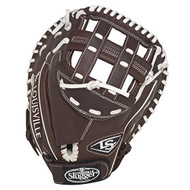 Louisville Slugger Xeno Pro Brown Softball Catcher's Mitt (Right Handed Throw)