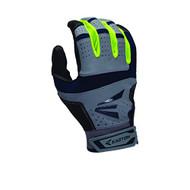 Easton HS9 Neon Batting Gloves Adult 1 Pair (Grey-Navy, XL)