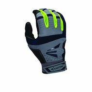 Easton HS9 Neon Batting Gloves Adult 1 Pair (Grey-Navy, Medium)