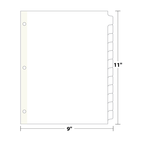 12-Bank Copytabs Tab Dividers, White 90 Lb. Index, 105 sets/pack