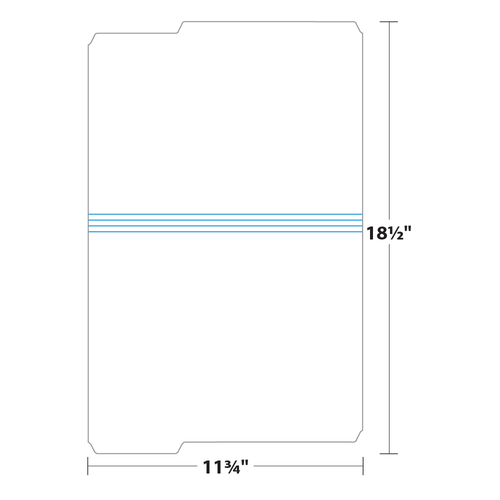"9.5"" x 11"" File Folder on 11.75"" x 18.5"", 125 Lb. Tag Stock, 500/pack"